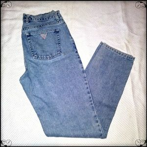 Vintage Guess Mom Jeans Tapered Leg Sz 32